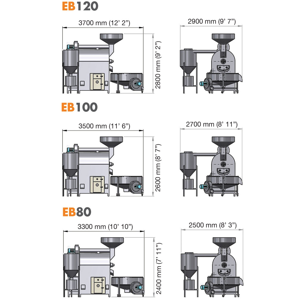 EB120 EB100  EB80- BATCH ROASTING OVENS_Project