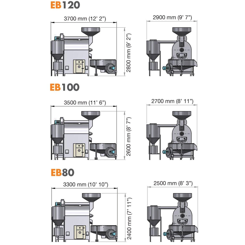 EB120 EB100 EB80 -ПАКЕТНАЯ ПЕЧИ ОБЖИГА _Проект