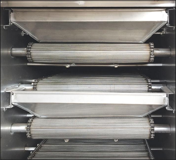 SRX60 - ROASTING OVENS Five layer belt system...