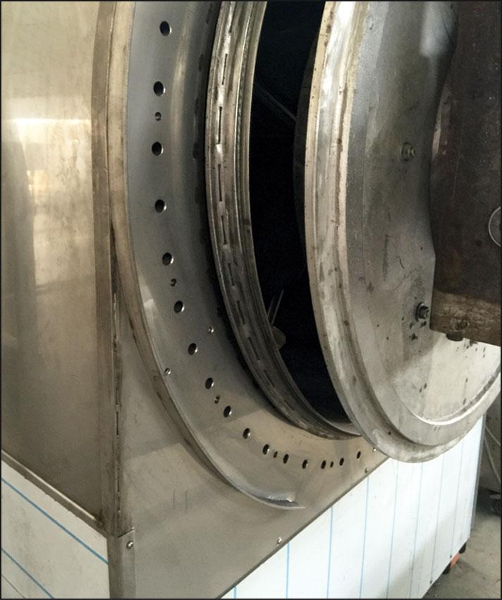 EB500 - COFFEE ROASTING MACHINE Product discharge...